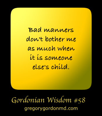 gordonian humor child manners