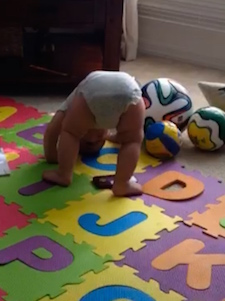 8 month old somersault